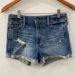 Hollister short shorts bandana cut pockets sz 0